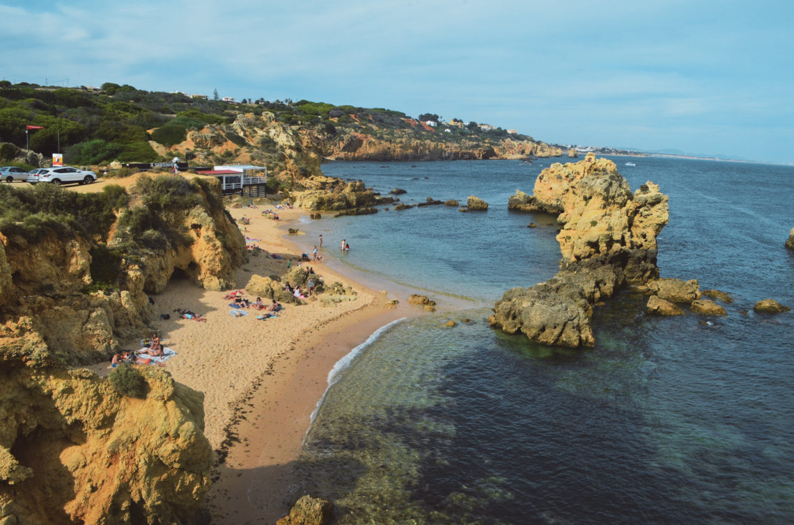 L'une des plus belles plages d'Albufeira