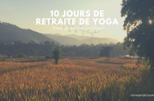 10 jours de yoga dans un ashram au népal