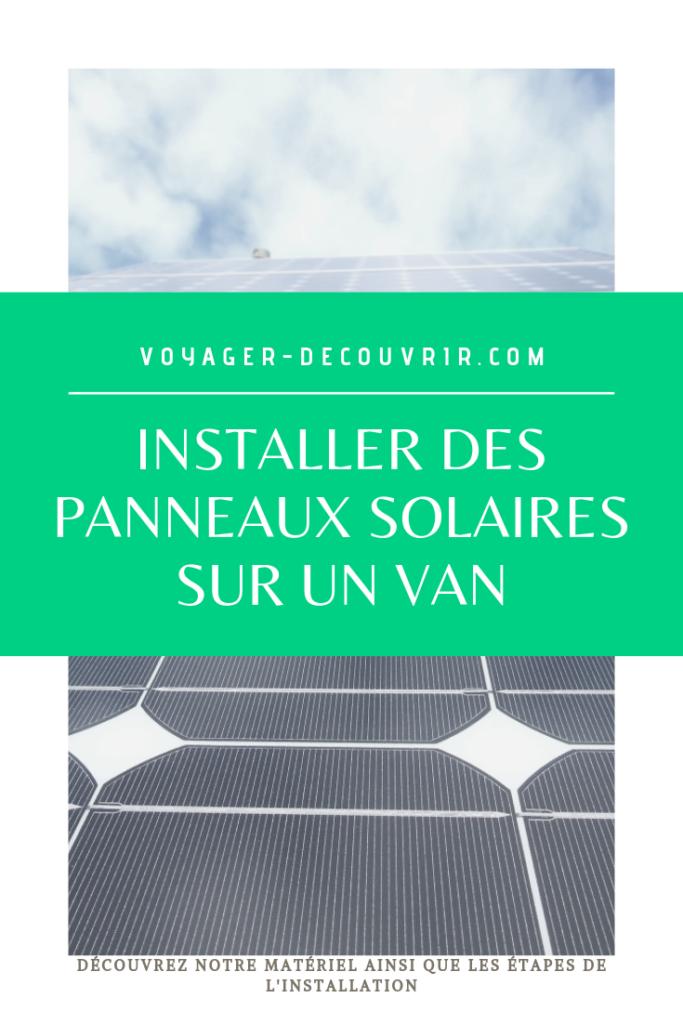 panneaux solaires sur van