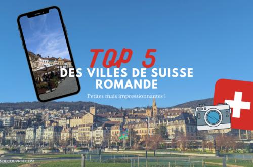Suisse Romande top 5 des villes