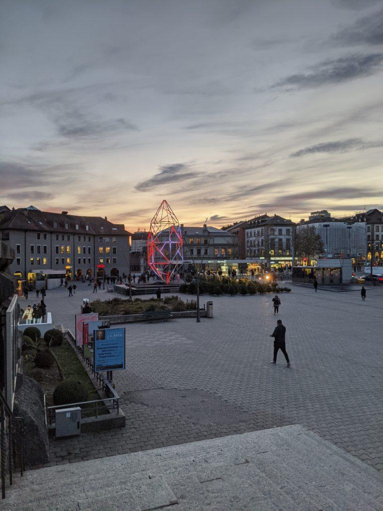 Lausanne place de la riponne